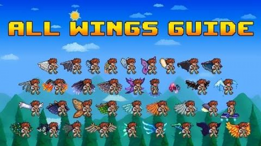 Terraria Wings and flying