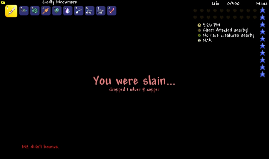 Terraria what happens when you die