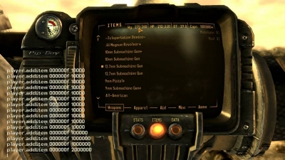 Fallout: New Vegas – Cheats PC