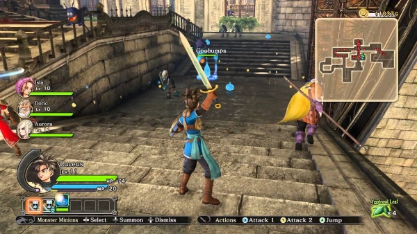 DRAGON QUEST HEROES Gameplay