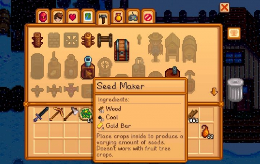 Crafting A Seed Maker In Stardew Valley